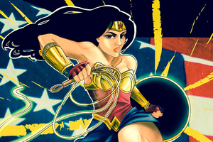 Wonder Woman Original Art Wallpaper