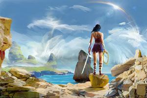 Wonder Woman Paint Art 4k Wallpaper