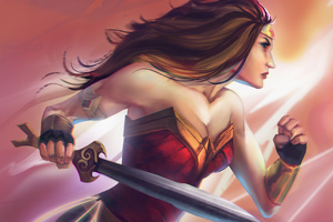 Wonder Woman Paint Art