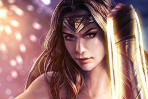Wonder Woman Paint Artwork
