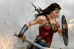 Wonder Woman Painting Art 4k