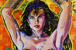 Wonder Woman Painting Art 5k