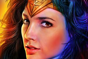 Wonder Woman Portrait Closeup 5k Wallpaper