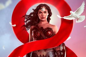 Wonder Woman Poster Design 4k