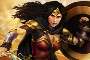 Wonder Woman Ready Battle