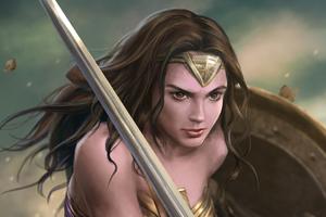Wonder Woman Ready Fight