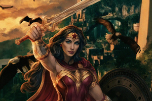 Wonder Woman Real Warrior Art 4k