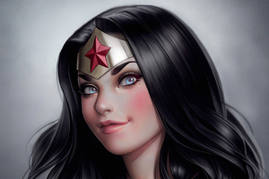 Wonder Woman Red Cheeks Wallpaper