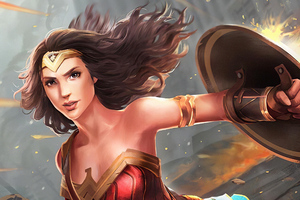 Wonder Woman Shield Art New