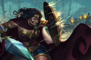 Wonder Woman Shield Art