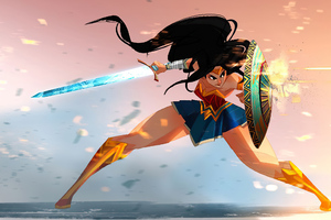 Wonder Woman Sketchy Art