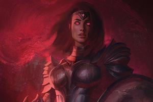 Wonder Woman Suit Brush Art Wallpaper