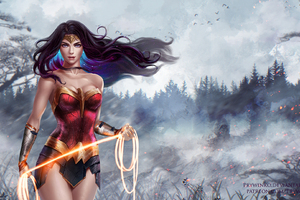Wonder Woman Superhero Artwork