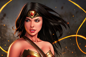 Wonder Woman Superheroine Wallpaper