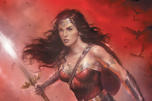 Wonder Woman Sword Artwork Wallpaper