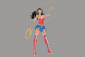 Wonder Woman Typography 4k Wallpaper