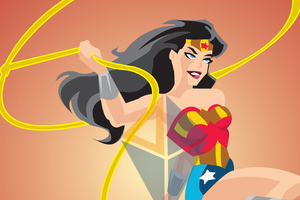 Wonder Woman Vector Art 4k