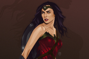 Wonder Woman Vector Art Wallpaper