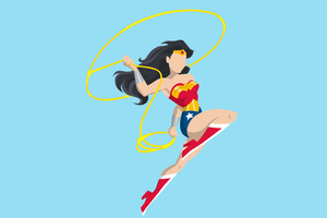 Wonder Woman Vector Style