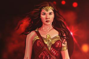 Wonder Woman Walking 4k