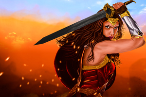 Wonder Woman Warrior 4k Artwork Wallpaper