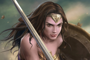Wonder Woman Warrior Art 4k Wallpaper