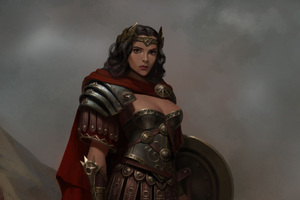 Wonder Woman Warrior Artwork Wallpaper