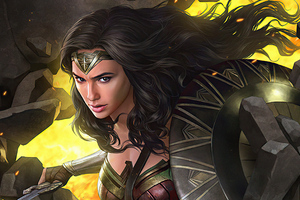 Wonder Woman With Sword Of Athena 4k Wallpaper