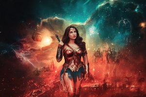 Wonder Woman Zsjl Cosplay Wallpaper