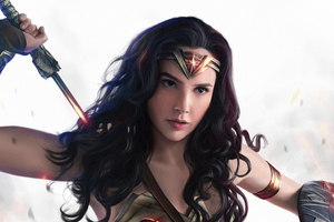 Wonder Woman4k Gal Gadot Art Wallpaper