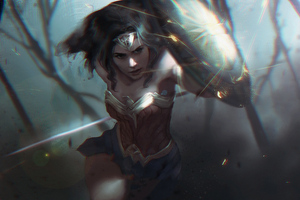 Wonder Womanshield 4k Wallpaper