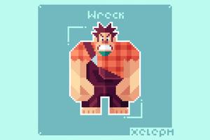 Wreck It Ralph Pixel Art 5k