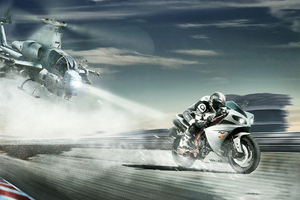 Yamaha R1 Run Wallpaper