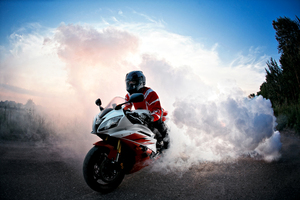 Yamaha R6 Smoke Wallpaper