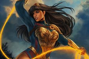 Yara Flor Wonder Woman Wallpaper
