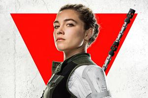 Yelena Belova In Black Widow Movie Poster 8k Wallpaper