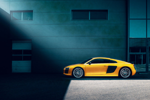 Yellow Audi R8 Wallpaper