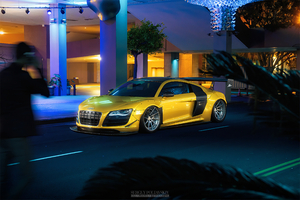 Yellow Audi R8 Car Wallpaper