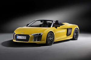 Yellow Audi R8 V10 Plus Wallpaper