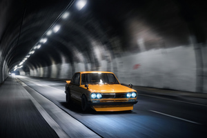 Yellow Gt Modified Car Tunnel 4k Wallpaper