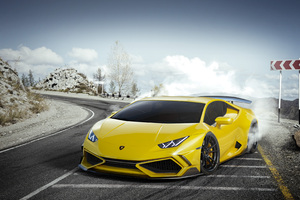 Yellow Lamborghini Huracan 4k