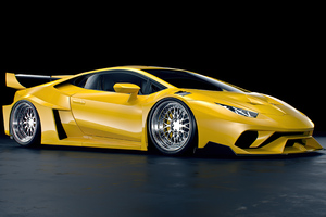 Yellow Lamborghini Huracan Lb 2 Rendered 4k Wallpaper
