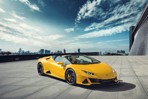 Yellow Lamborghini Outdoor Wallpaper