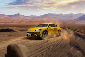 Yellow Lamborghini Urus 2020 Wallpaper