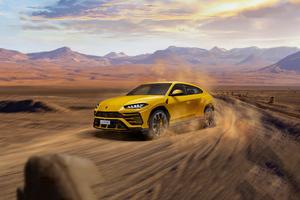 Yellow Lamborghini Urus 2020 Wallpaper