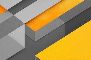 Yellow Lines Geometry Wallpaper