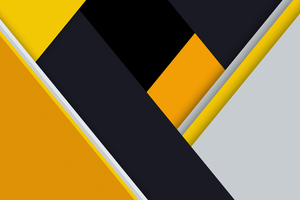 Yellow Material Design Abstract 8k