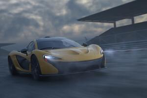 Yellow Mclaren P1 Car