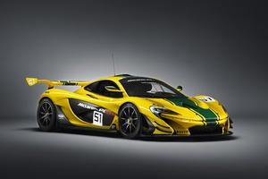 Yellow Mclaren P1 GTR