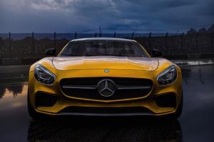 Yellow Mercedes Benz Amg 2020 4k Wallpaper